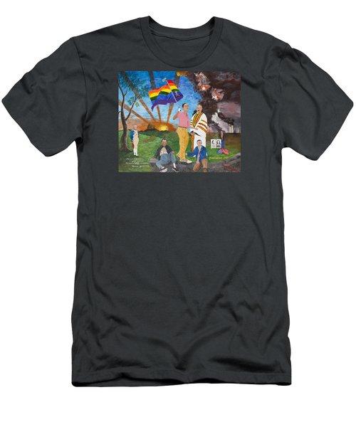 Leading Obama Left Men's T-Shirt (Athletic Fit)