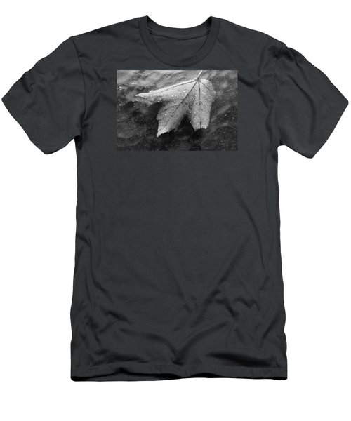 Leaf On Glass Men's T-Shirt (Athletic Fit)