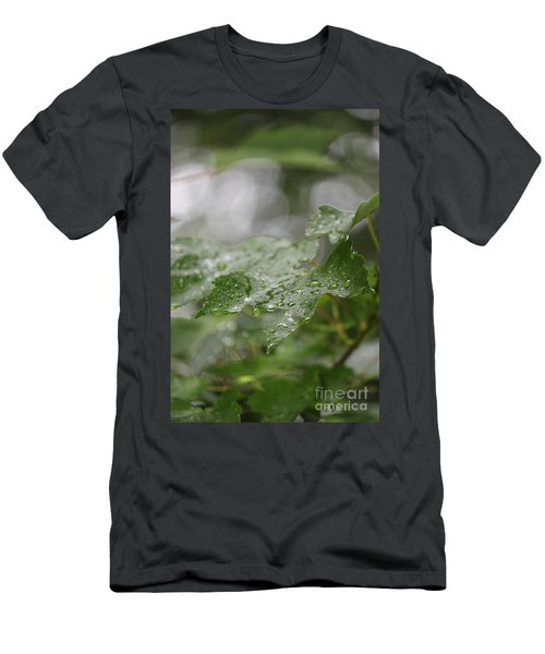 Leafy Raindrops Men's T-Shirt (Athletic Fit)
