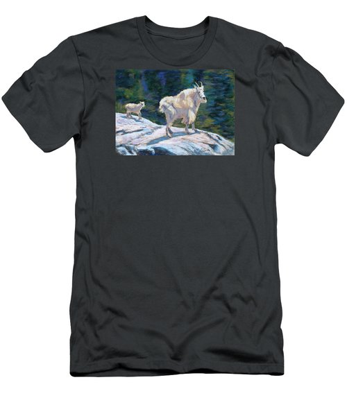 Learning To Walk On The Edge Men's T-Shirt (Athletic Fit)