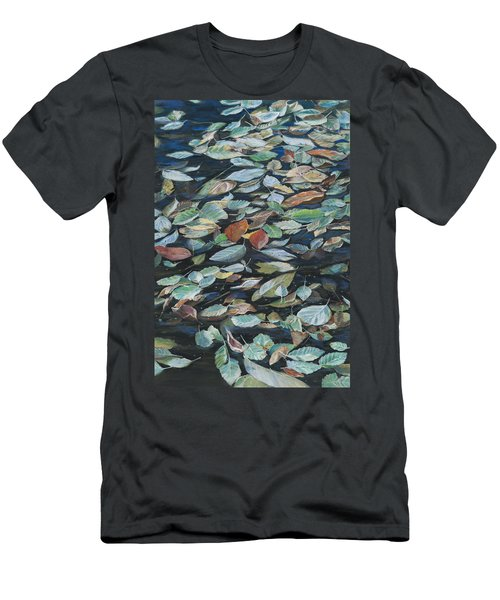 Leaves On Pond Men's T-Shirt (Athletic Fit)