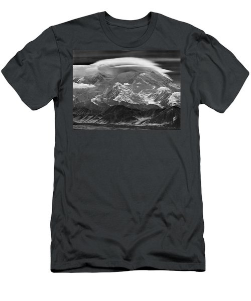 101366-lenticular Cloudcap Over Mt. Mckinley Men's T-Shirt (Athletic Fit)