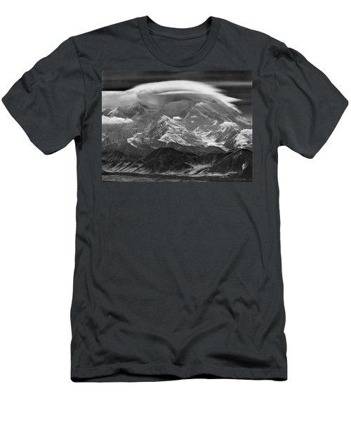 101366-lenticular Cloudcap Over Mt. Mckinley Men's T-Shirt (Athletic Fit)