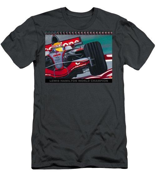 Lewis Hamilton F1 World Champion Pop Men's T-Shirt (Athletic Fit)