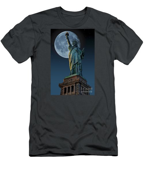 Liberty Moon Men's T-Shirt (Slim Fit) by Steve Purnell