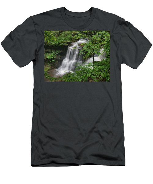 Lichen Falls Ozark National Forest Men's T-Shirt (Athletic Fit)