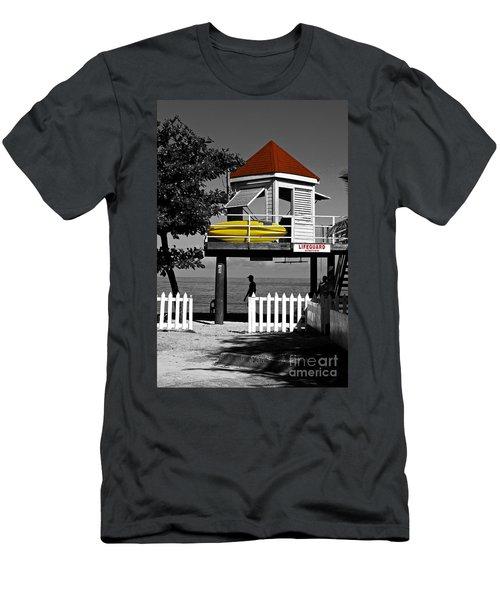 Life Guard Station Men's T-Shirt (Athletic Fit)