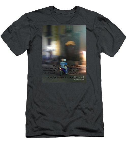 Men's T-Shirt (Slim Fit) featuring the photograph Life Zooms By  by Nora Boghossian