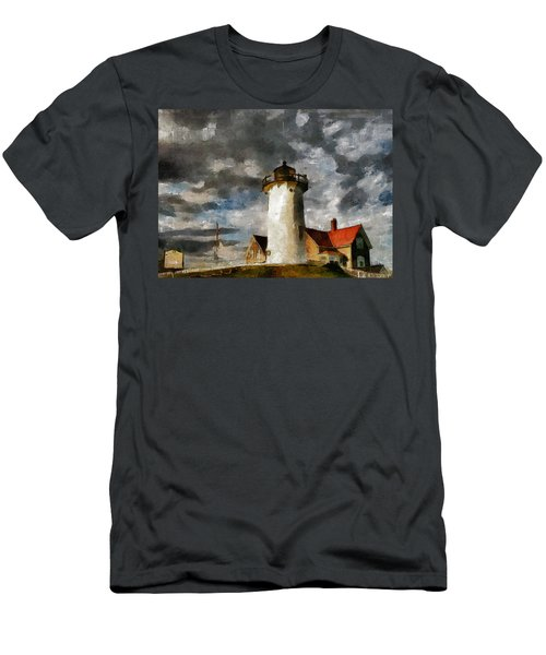 Light House In A Storm Men's T-Shirt (Athletic Fit)