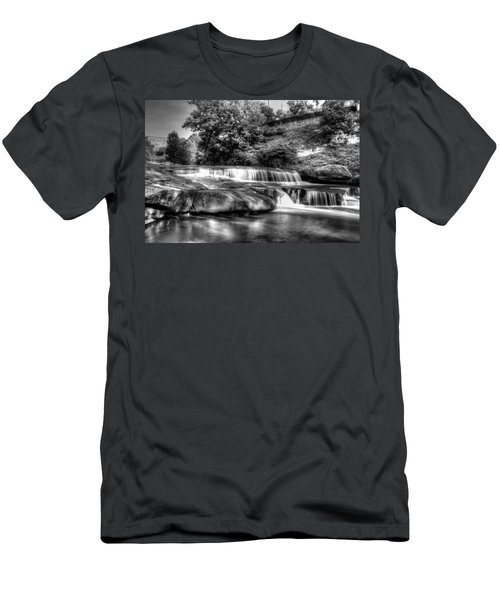 Light In Black And White Men's T-Shirt (Athletic Fit)
