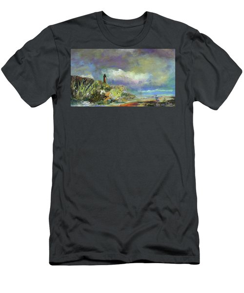 Lighthouse And Fisherman Men's T-Shirt (Athletic Fit)