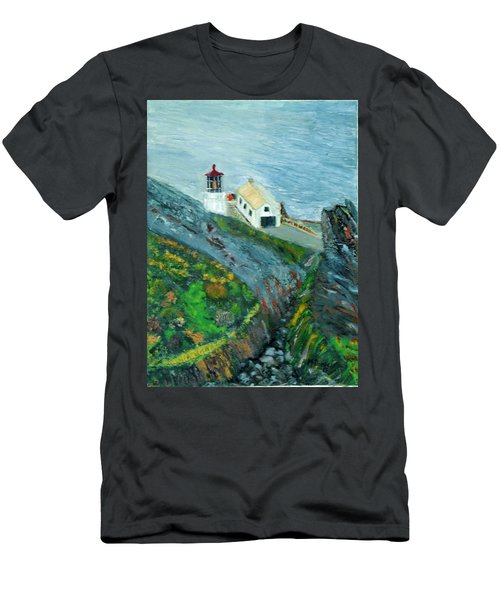 Lighthouse At Point Reyes California Men's T-Shirt (Athletic Fit)
