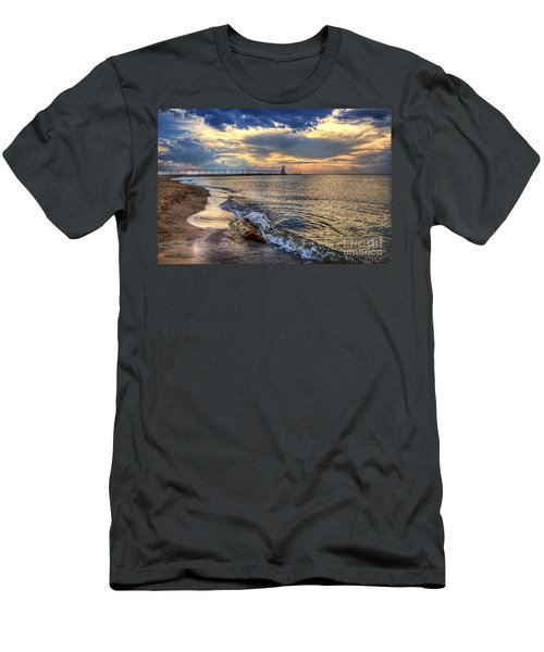 Lighthouse Drama Men's T-Shirt (Athletic Fit)