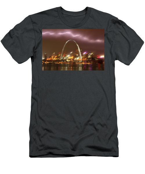 Lightning Over The Arch Men's T-Shirt (Athletic Fit)