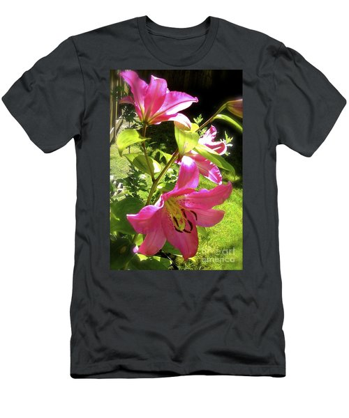 Men's T-Shirt (Athletic Fit) featuring the photograph Lilies In The Garden by Sher Nasser