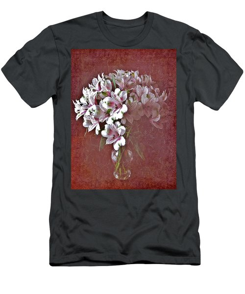 Men's T-Shirt (Slim Fit) featuring the photograph Lilies In Vase by Diane Alexander
