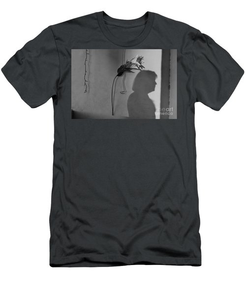 Lily And Male Figure Shadow Men's T-Shirt (Athletic Fit)