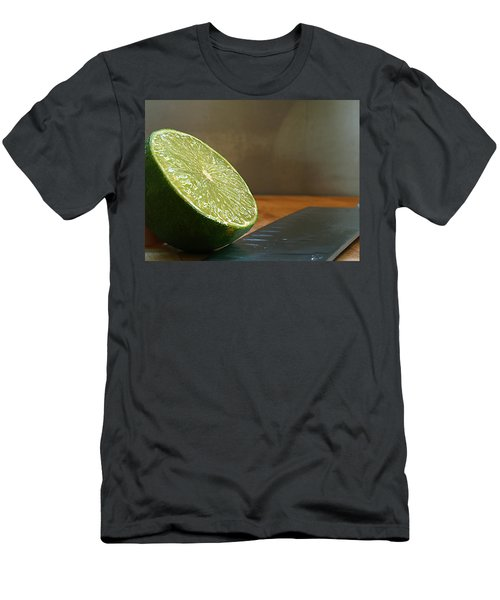 Men's T-Shirt (Slim Fit) featuring the photograph Lime Blade by Joe Schofield