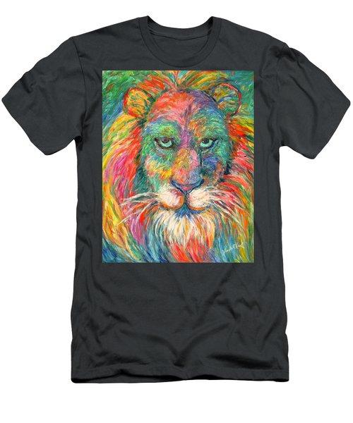Lion Explosion Men's T-Shirt (Athletic Fit)
