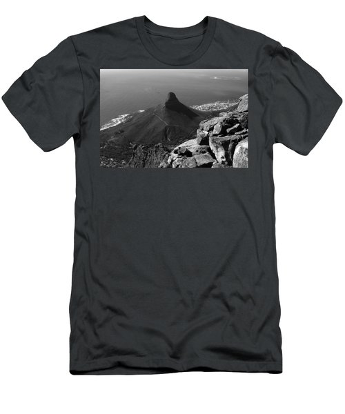 Men's T-Shirt (Athletic Fit) featuring the photograph Lions Head - Cape Town - South Africa by Aidan Moran