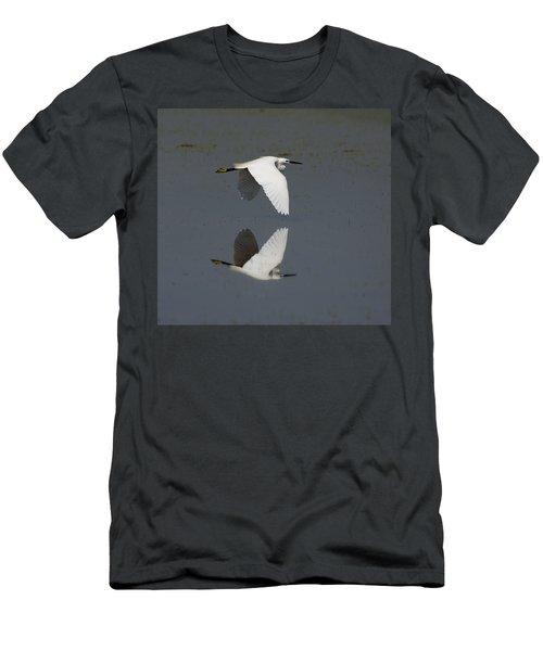 Little Egret In Flight Men's T-Shirt (Athletic Fit)