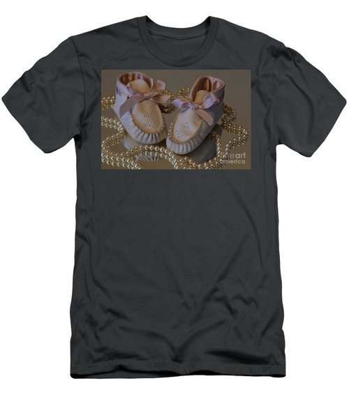Men's T-Shirt (Slim Fit) featuring the photograph Little Girls To Pearls by Sharon Elliott