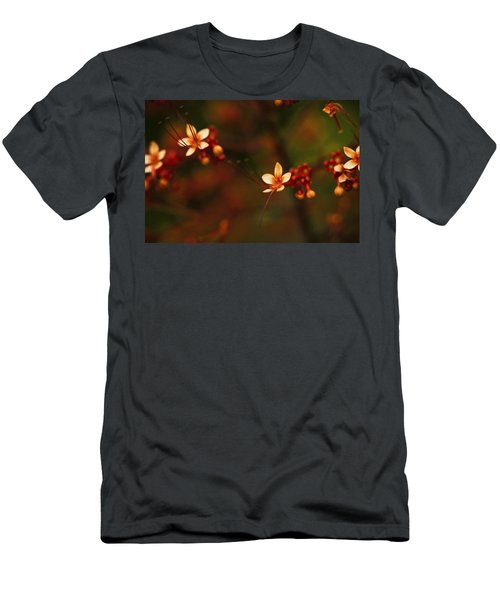 Little Red Flowers Men's T-Shirt (Athletic Fit)