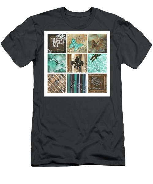 Live And Love By Madart Men's T-Shirt (Athletic Fit)