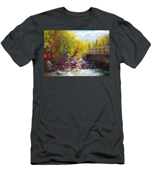 Living Water - Bridge Over Little Su River Men's T-Shirt (Athletic Fit)