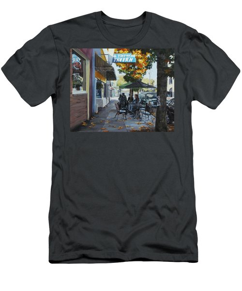 Men's T-Shirt (Slim Fit) featuring the painting Local Color by Karen Ilari