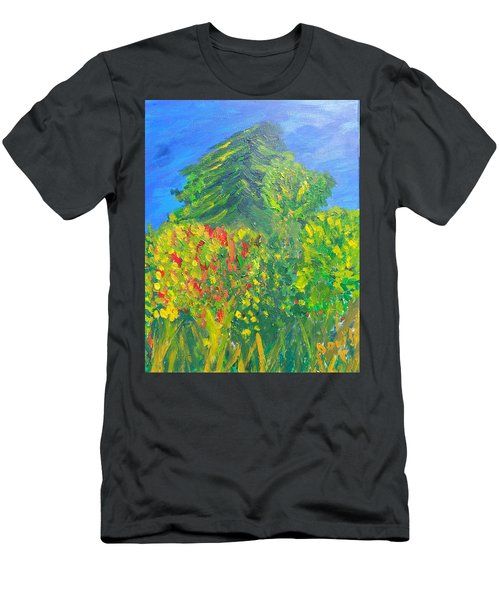 Local Trees Men's T-Shirt (Slim Fit) by David Trotter