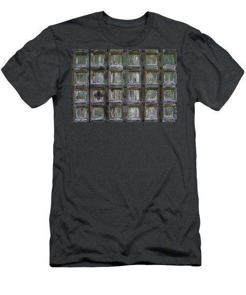Locked Door Men's T-Shirt (Slim Fit) by Ron Harpham