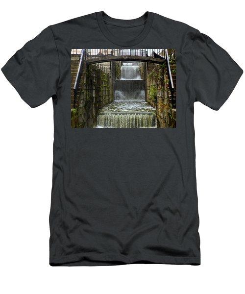 Lockport Falls Men's T-Shirt (Slim Fit) by Richard Engelbrecht
