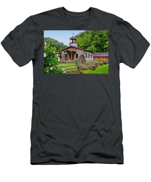 Log Church Men's T-Shirt (Athletic Fit)