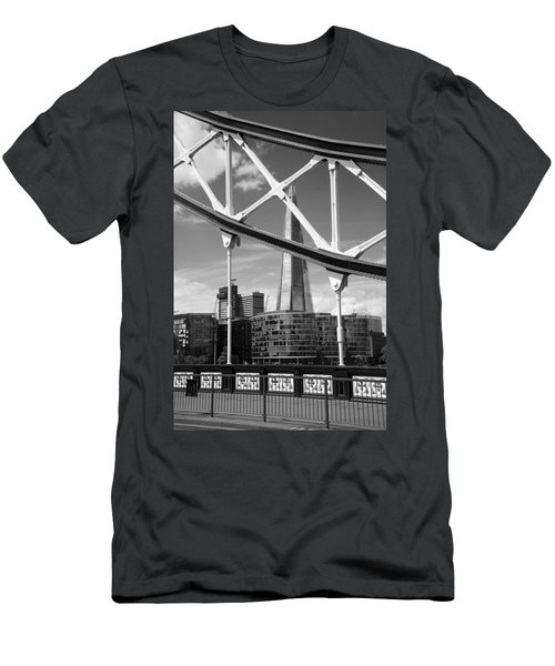 London Bridge With The Shard Men's T-Shirt (Slim Fit) by Chevy Fleet