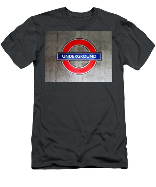 London Underground Sign Men's T-Shirt (Athletic Fit)