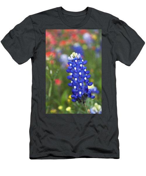 Lone Bluebonnet Men's T-Shirt (Athletic Fit)