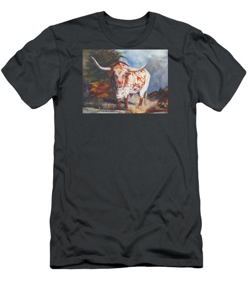 Lone Star Longhorn Men's T-Shirt (Slim Fit) by Karen Kennedy Chatham