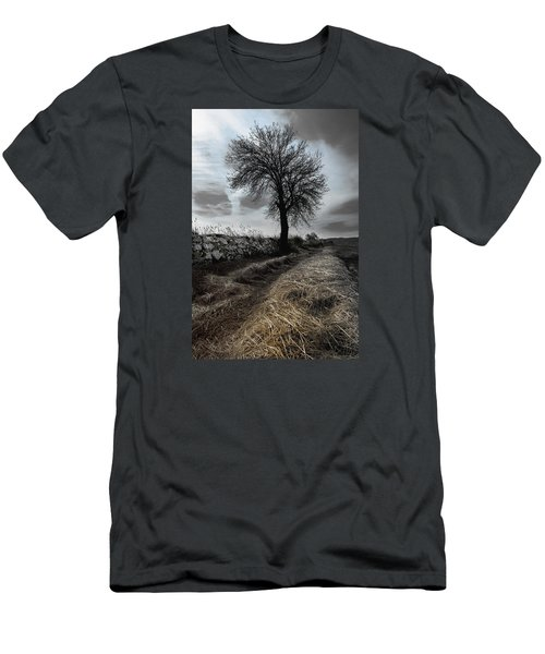 Men's T-Shirt (Slim Fit) featuring the photograph Lone Tree by Edgar Laureano
