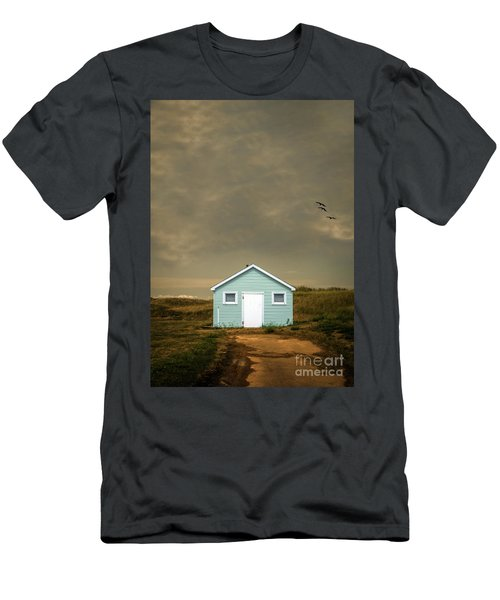 Lonely Beach Shack Men's T-Shirt (Athletic Fit)