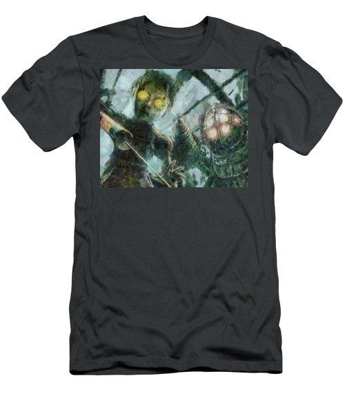 Look Mr Bubbles An Angel Men's T-Shirt (Athletic Fit)