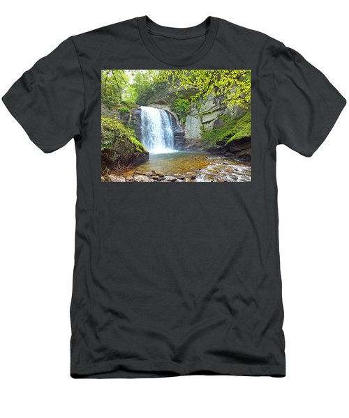 Looking Glass Waterfall In The Spring 2 Men's T-Shirt (Athletic Fit)
