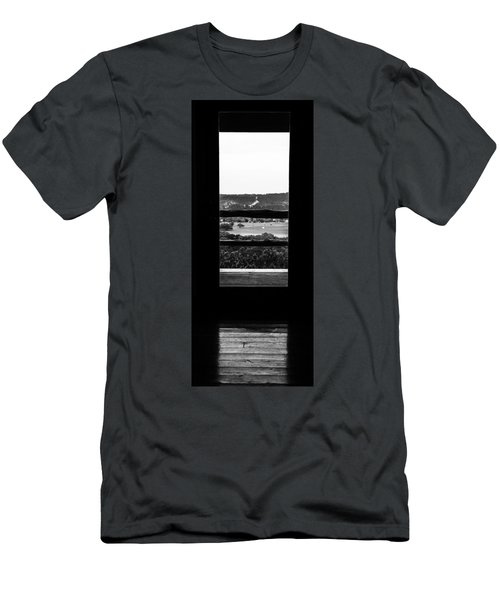 Looking Out A Country Door. Men's T-Shirt (Athletic Fit)
