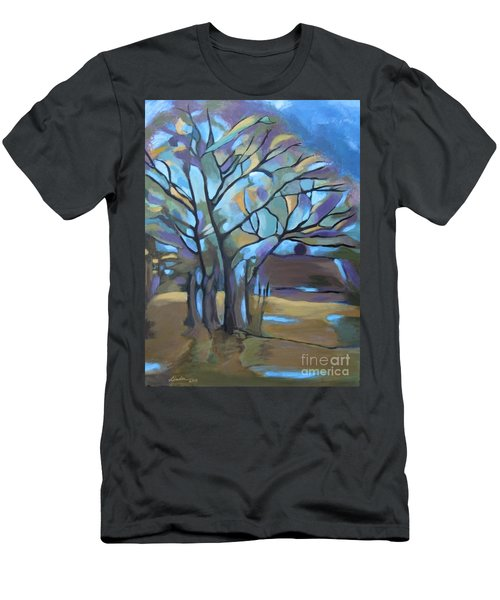 Looks Like Mondrian's Tree Men's T-Shirt (Athletic Fit)