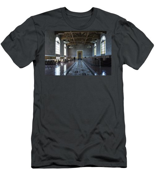 Los Angeles Union Station - Custom Men's T-Shirt (Athletic Fit)