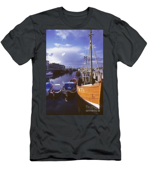 Lossiemouth Harbour - Scotland Men's T-Shirt (Slim Fit) by Phil Banks