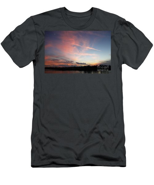 Men's T-Shirt (Slim Fit) featuring the photograph Louisiana Sunset In Lacombe by Luana K Perez