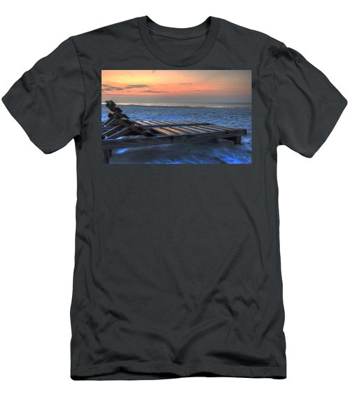 Lounge Closeup On Beach ... Men's T-Shirt (Athletic Fit)