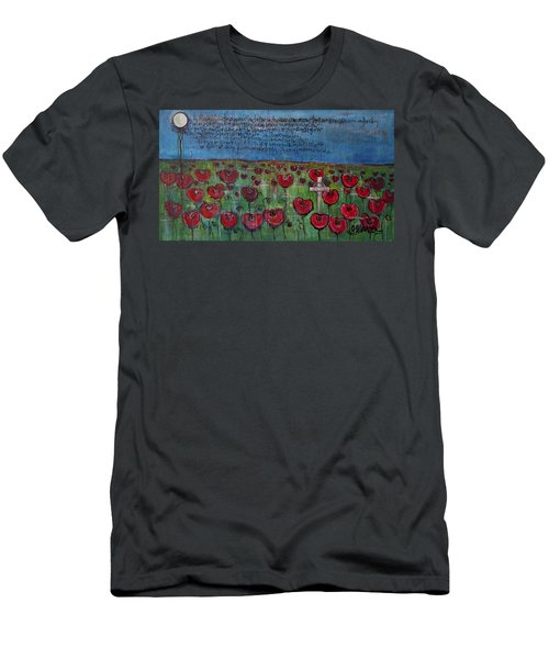 Love For Flanders Fields Poppies Men's T-Shirt (Athletic Fit)