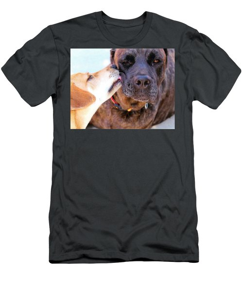Men's T-Shirt (Slim Fit) featuring the photograph Love Licks by Janice Rae Pariza
